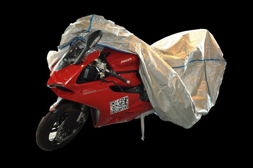 avec un sac garage de moto housse de moto HARLEY DAVIDSON TOURING ULTRA CLASSIC ELECTRA GLIDE FLHTCU avec Topcase et le pare-brise excl de TYVEK couleur argent