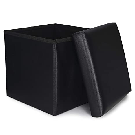 Astounding Ronsta Storage Ottoman Foldable Cube Ottoman With Storage For Children Foot Rest Cloth Foot Stools And Ottomans With Memory Foam And Pu Leather Gmtry Best Dining Table And Chair Ideas Images Gmtryco