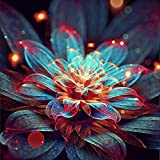 DIY 5D Diamond Painting by Number Kits Full Drill Rhinestone Embroidery Cross Stitch Pictures Arts Craft for Home Wall Decor,Blooming Epiphyllum-12x12In