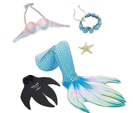 DDPP Traje de baño Sexy, Colas de Sirena para Nadar, Bikini ...