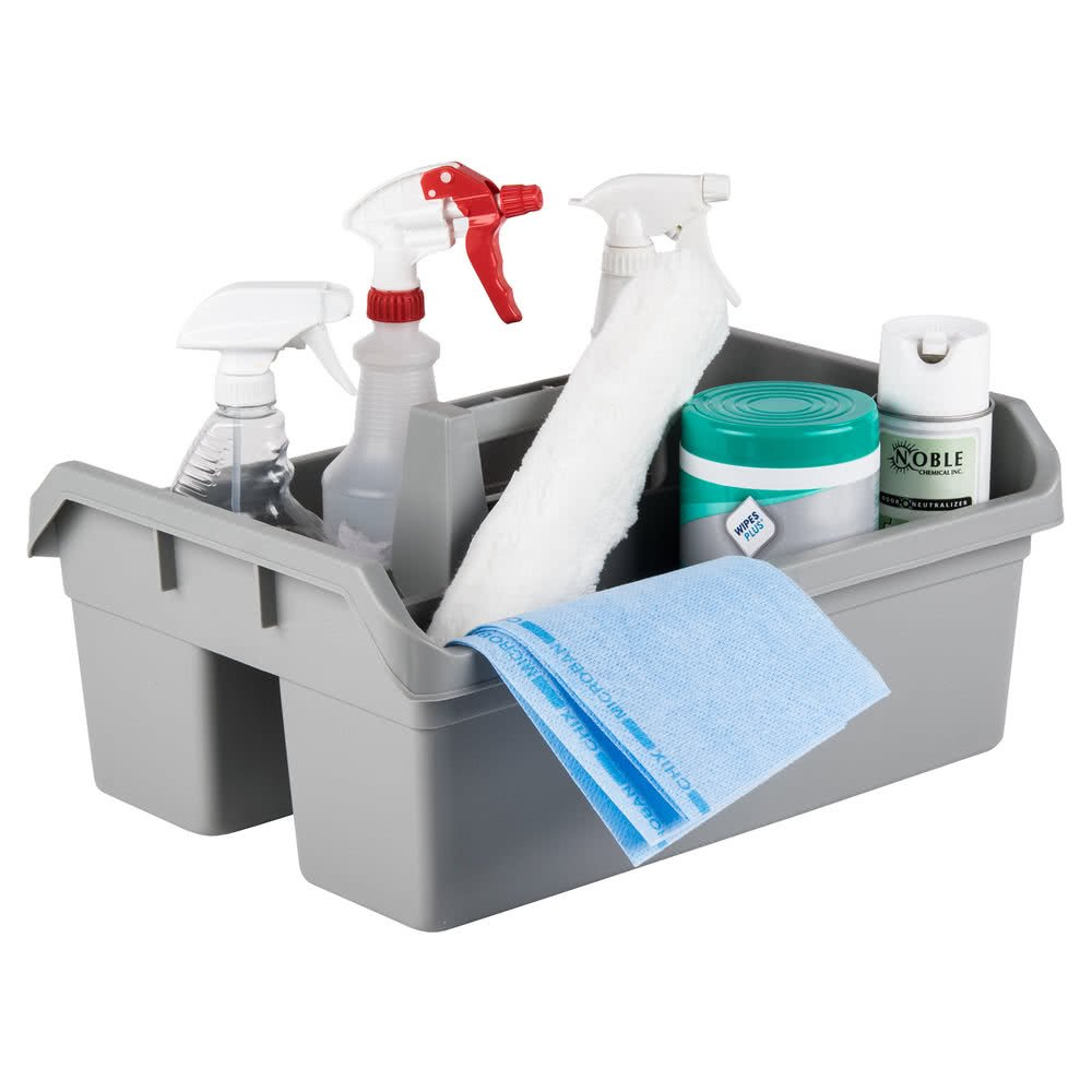 TableTop king 49 Gray Maxi Maid Carrier Janitor Caddy