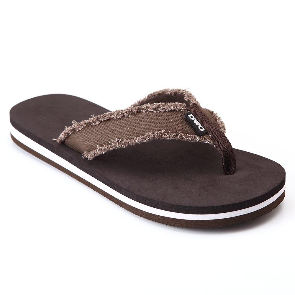 d6bc62c1a9d203 DWG Men s Soft Flip-Flops Sandals Light Weight Shock Proof Slippers