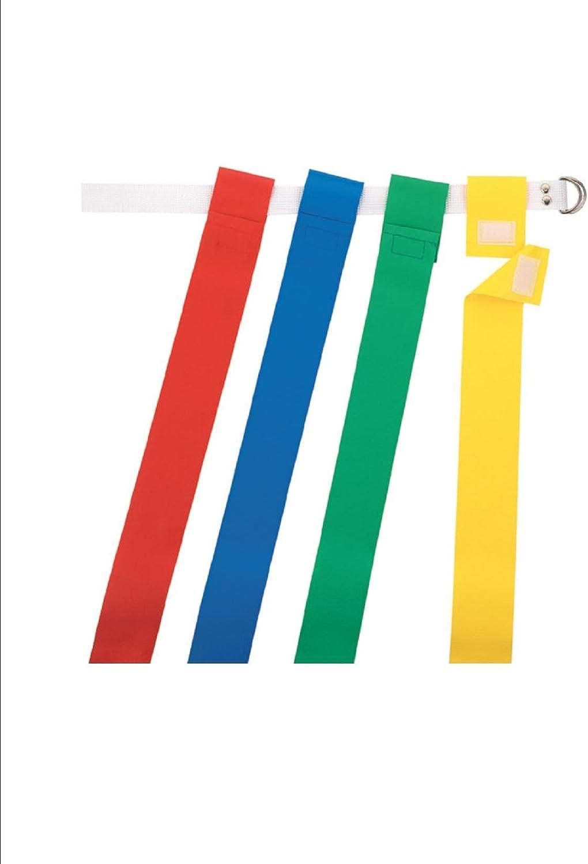 New Martin Dozen 12 OSFA Flag Football Web Belts 2 Tear Away Attached Flags Yel