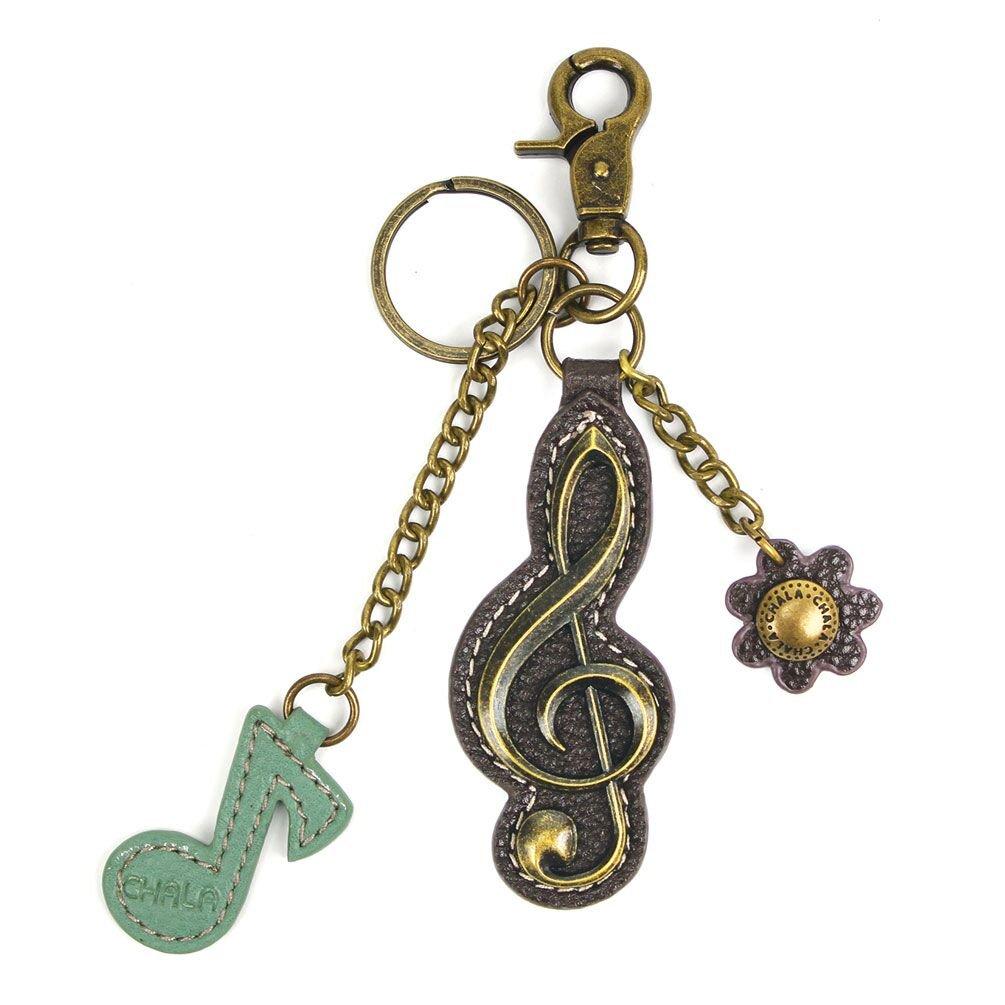 G Clef Musical Note Music Charming Key Chain Purse Bag Fob Charm