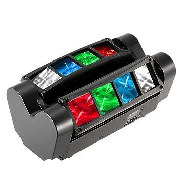 Docooler 90 W RGBW 12.06 canales LCD DMX512 de sonido activado Auto unidad Mini araña Etapa