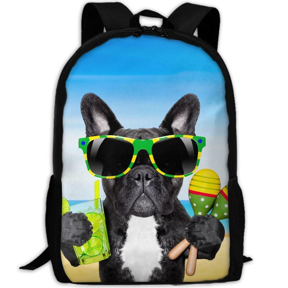 6f2c56e3915 ZQBAAD Brazil French Bulldog Luxury Print Men And Women's Travel Knapsack  85%OFF