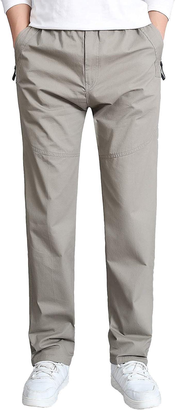 Gmardar Pantalones Hombre Pantalón Casual para Hombre de Algodón con Bolsillos Laterales y Cinturón Ajustable: Amazon.es: Ropa y accesorios