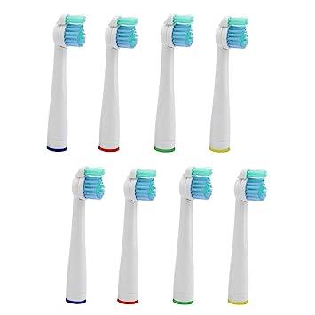 Kongkay® Lote de 8 cabezales de recambio para cepillo de dientes, genérico compatible con Philips HX2014 Sonicare Sensiflex. (2Pack X 4Pcs): Amazon.es: ...