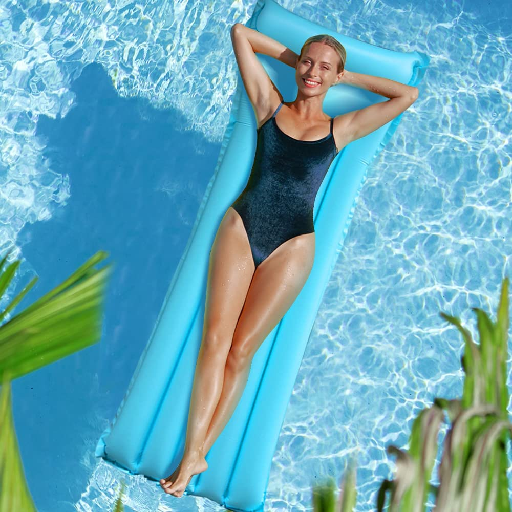 Pool Floats Adult, Swimming Pool Floaties Pool Raft Lake Floats, Outdoor Inflatable Large Pool Lounge Chairs Portable Water Floats Rafts for Swimming Pool, Water Park, Beach, Lake