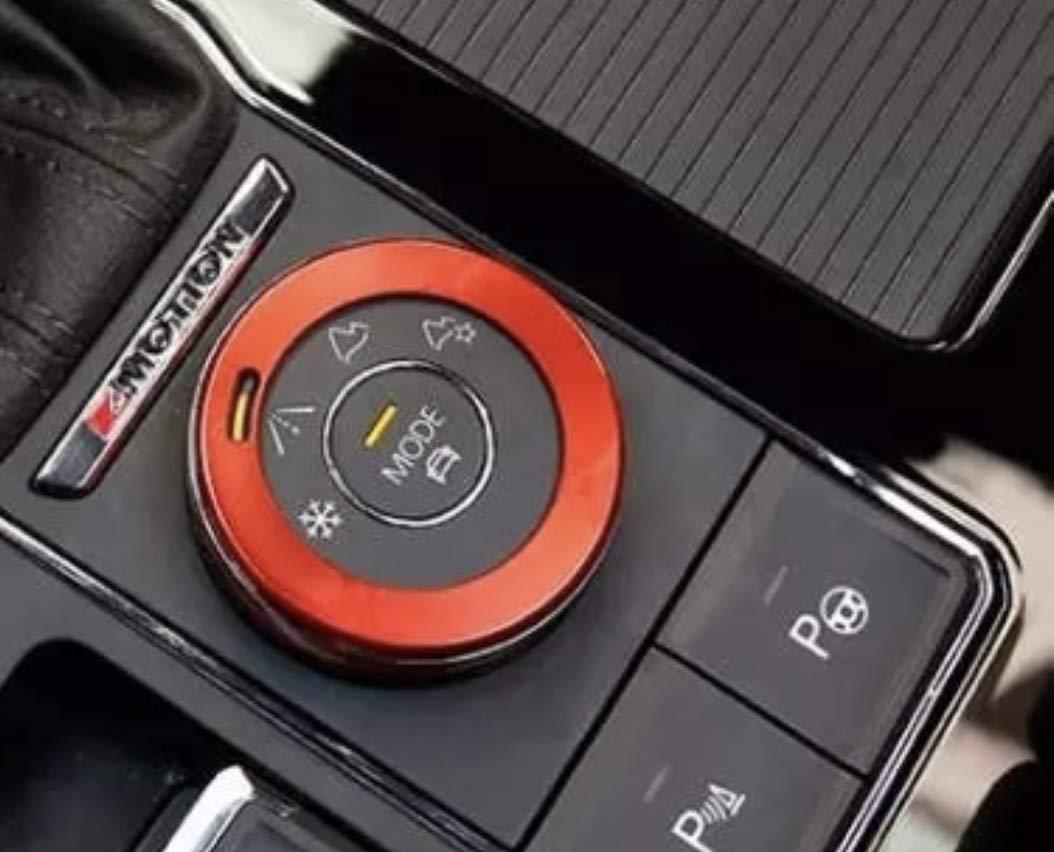 FFZ Parts Alu Ring Rahmen Blende Abdeckung Passend F/ür Tiguan 2 Allspace T-Roc T-Cross Touran 4Motion