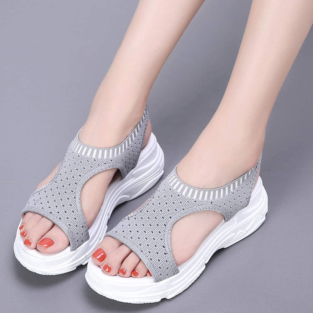 Womens Platform Sandals Lightweight Beach Wedge Sandals Shoes