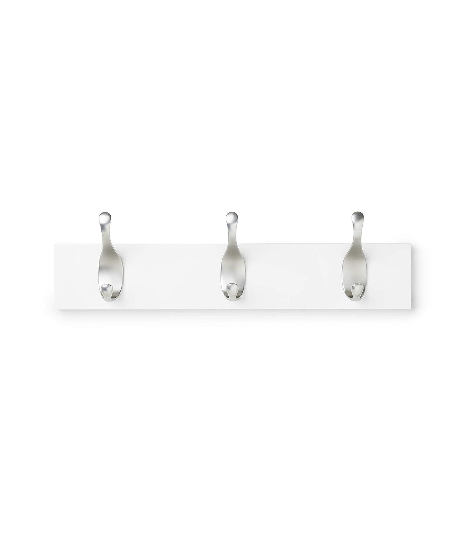 AmazonBasics - Perchero de pared, 3 ganchos modernos, Blanco ...