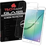 TECHGEAR® Samsung Galaxy Tab S2 8.0 Inch (SM-T710) GLASS Edition Genuine Tempered Glass Screen Protector Guard Cover