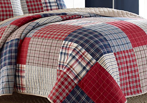 Nautica Ansell Cotton Pieced Quilt, King, Red/Blue by Nautica (Image #2)
