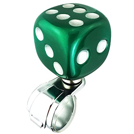 Orange Dice Shape Car Power Handle Grip Knobs Fit Most Manual Automatic Vehicles Thruifo Steering Wheel Knob Suicide Spinner