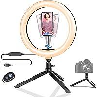 Lampa pierścieniowa do selfie, statyw z pilotem zdalnego sterowania, lampa błyskowa z możliwością ściemniania, 3 tryby…