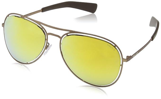 31ed2c0d8a Police S8960 Offside 3 aviator Sunglasses  Amazon.co.uk  Clothing