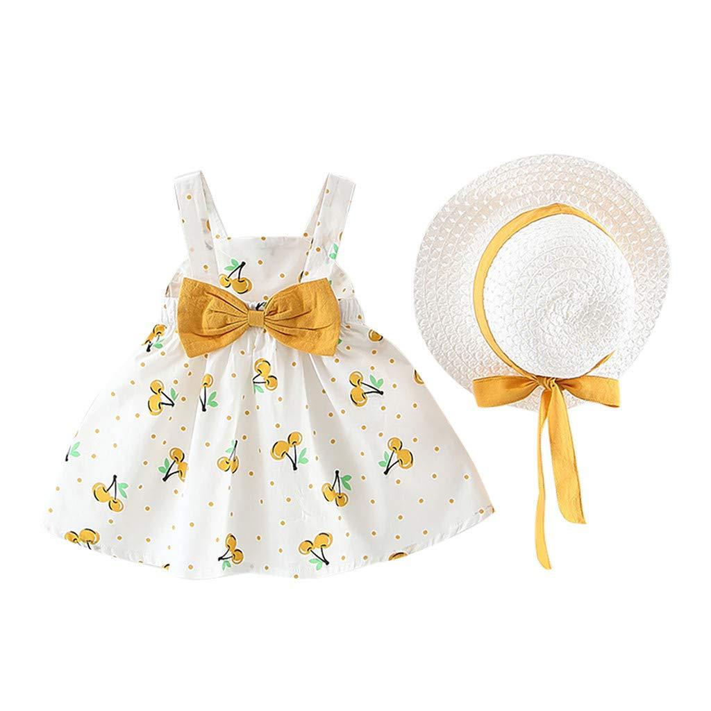 TWIFER/_/ét/é/_ Enfant en Bas /âge b/éb/é Enfants Filles Robes de Princesse /à Pois sans Manches Bow Hat Outfits/_1 2 3 4 5 6 7 9 Ans Les magasins Ont