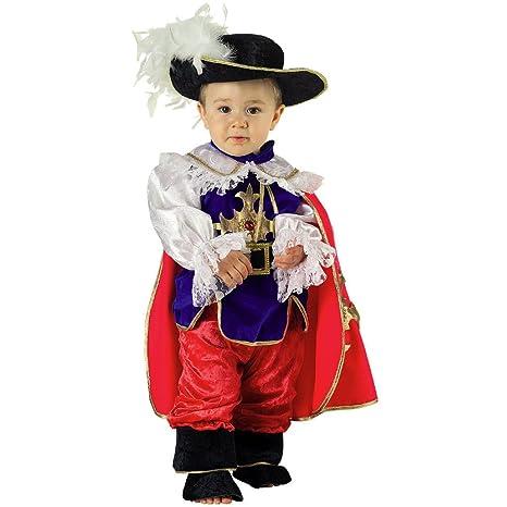 Deluxe Costume Vestito Carnevale Bambino Baby Moschettiere 12 Mesi 1 Anno 10b510dcf9f5