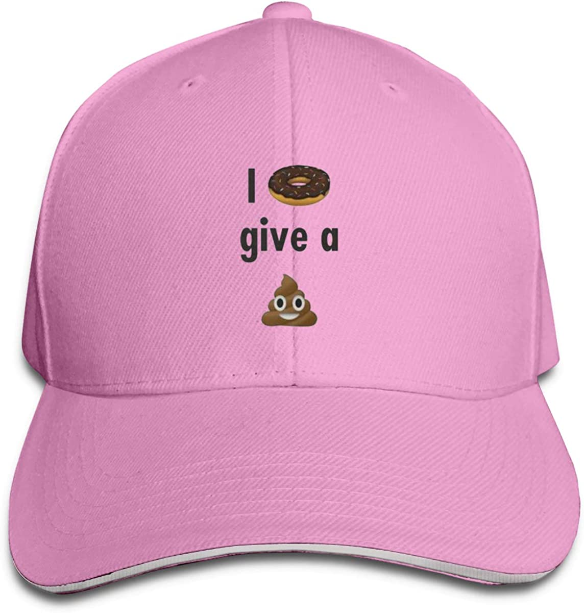 I Donut Give A Sht Poop Classic Adjustable Cotton Baseball Caps Trucker Driver Hat Outdoor Cap Pink