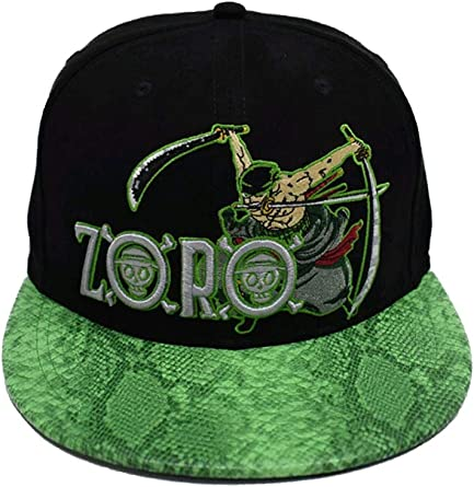 Gorra con cierre a presión, del anime One Piece, Zoro: Amazon.es ...