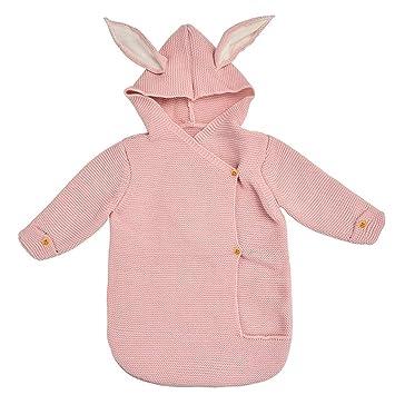 YEKEYI - Manta Unisex para bebé recién Nacido, de Punto para Saco de Dormir, para bebés de 0 a 12 Meses, Rosa, Talla única: Amazon.es: Hogar