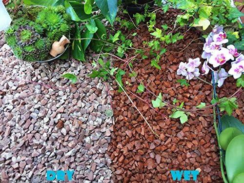 Gravilla de piedra pizarra para cubrir y eliminar las hierbas del jardín, patio, camino y plantas, granito rojo, de 10 a 14 mm, 1 kg: Amazon.es: Hogar