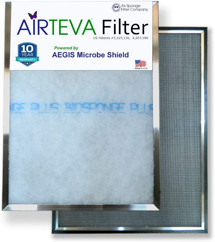 BioSponge Plus Replacement Furnace filter with AIRTEVA 12 1//2 x 21 AC filter 1