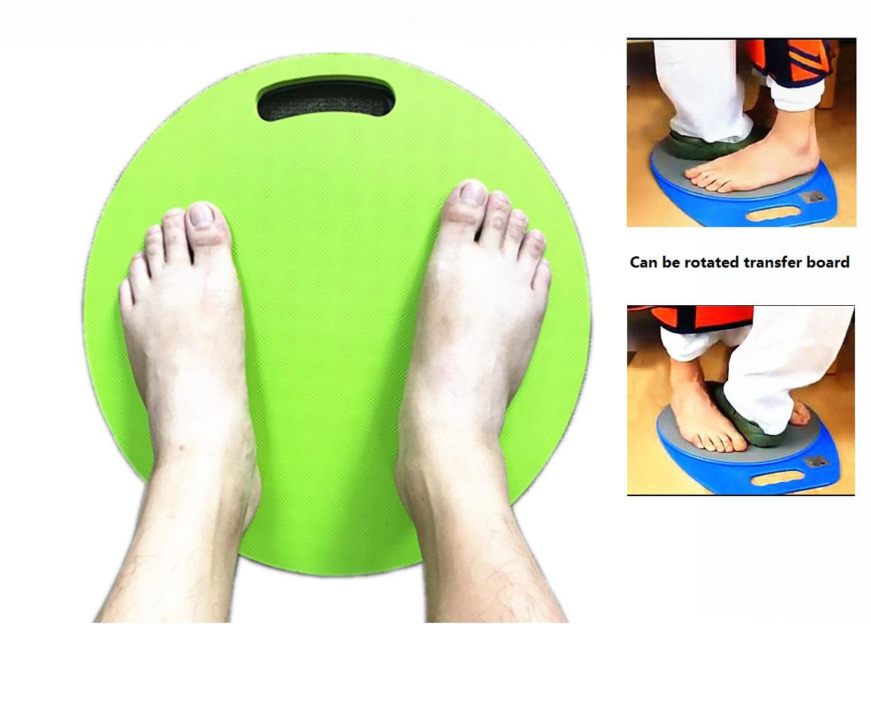 LUCKYYAN Can be Rotated Transfer Slide Board Easier Transfers from Wheelchairs, Beds and More