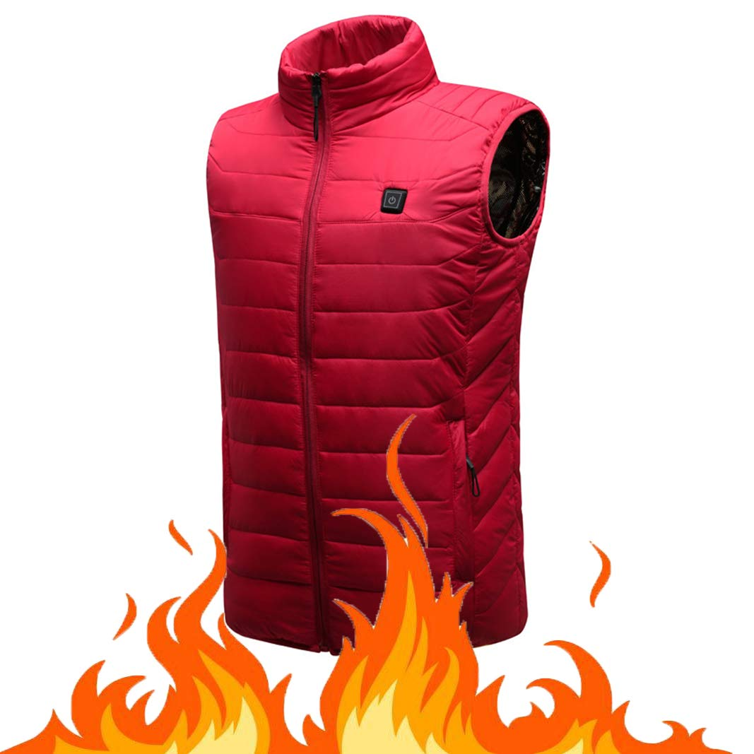 OUTANY Damens es Heated Vest, Winter Outdoor Sport Warm Insulated Vest Rechargeable Windproof USB