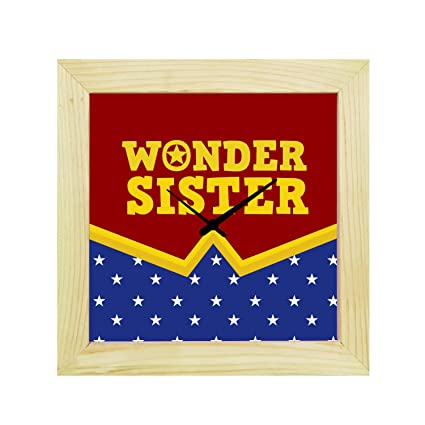 Buy YaYa CafeTM 6X6 Inches Birthday Gifts For Sister Desk Clock Wonder Canvas Rakhi Online At Low Prices In India
