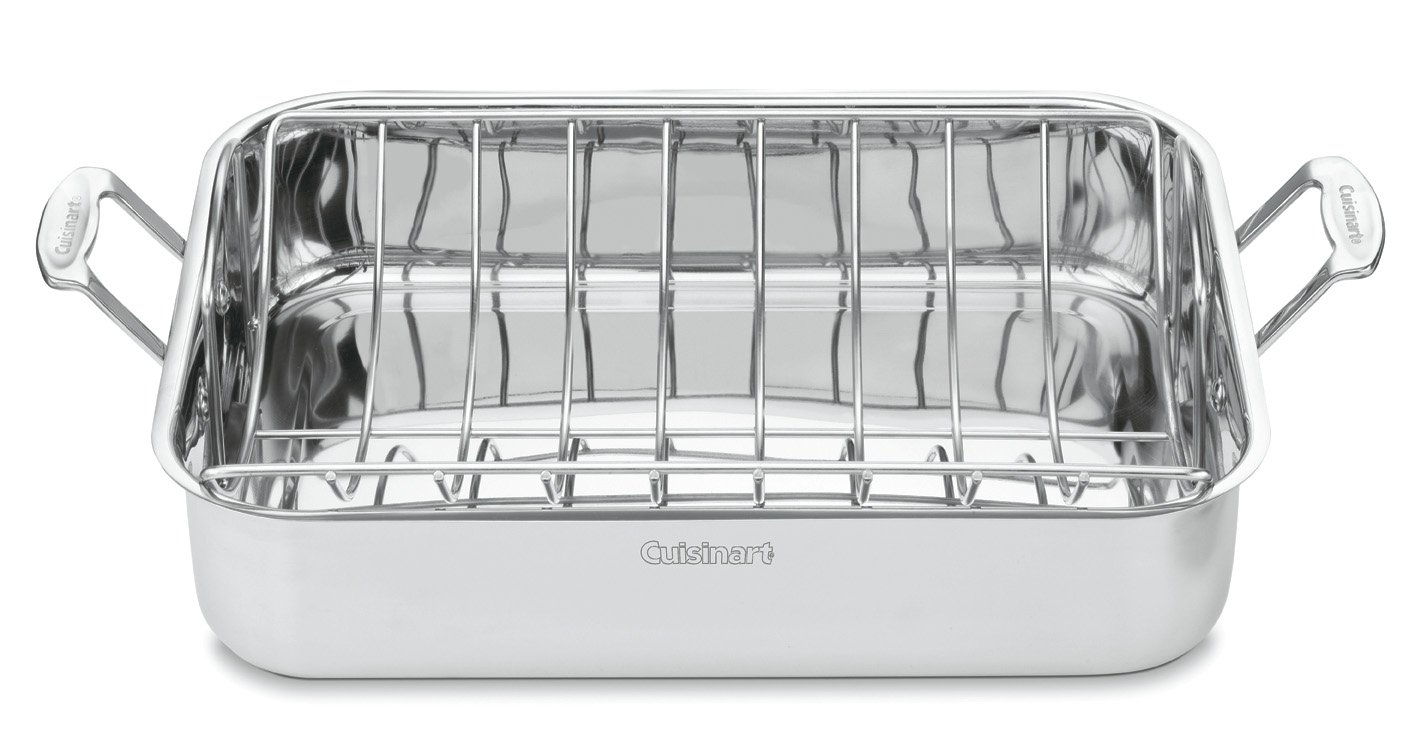 Cuisinart 7117-16UR Chef's Classic Stainless 16-Inch Rectangular Roaster with Rack by Cuisinart