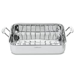 Cuisinart 7117-16UR Chef's Classic Stainless 16-Inch Rectangular Roaster with Rack | amazon.com
