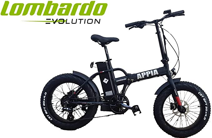 Cicli Puzone Bicicleta Lombardo ApPIA Folding Fat Bike 20 BAFANG ...