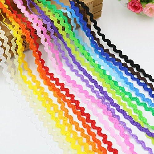 40 m de cinta algodon zig zag de 20 colores para manualidades ...