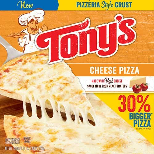 Tonys Pizzeria Style Pizza Cheese, 18.9 Ounce -- 16 per case. by Schwan's