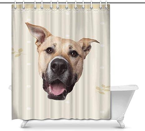 Amazon Com Annhomeart Custom Dog Face Photo Shower Curtain 66 X72 Home Kitchen