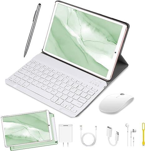 DUODUOGO Tablet 10 Pulgadas Baratas y Buenas 4GB RAM 64GB ROM Android 9.0 Pie Tablet PC 2 en 1 con Teclado y Mouse Quad-Core Dual SIM Buenas Tabletas ...