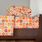 Roostery Barkcloth 3pc Sheet Set Ua Tapa 1A by Muhlenkott Twin Sheet Set made with