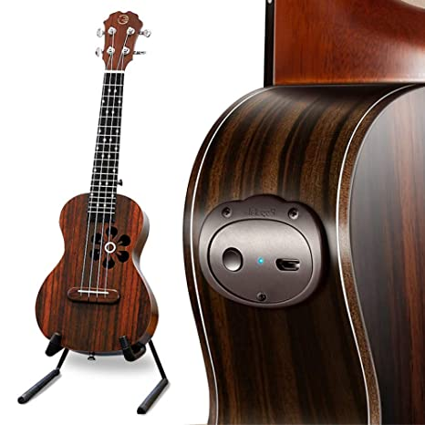 """YOUKELILIA Populele U1 23""""Smart Concert Ukulele Guitarra Bluetooth Acústico Eléctrico Soprano Ukulele Uke Kit"""