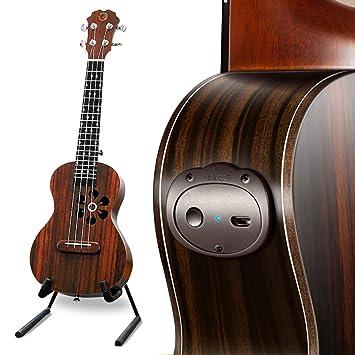 NING-MENG Guitarra acústica eléctrica inteligente ukulele soprano ...