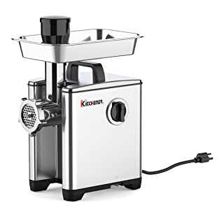 KITCHENER Heavy Duty Commercial Grade Electric Stainless Steel High HP Meat Grinder … (240lbs Per Hour)