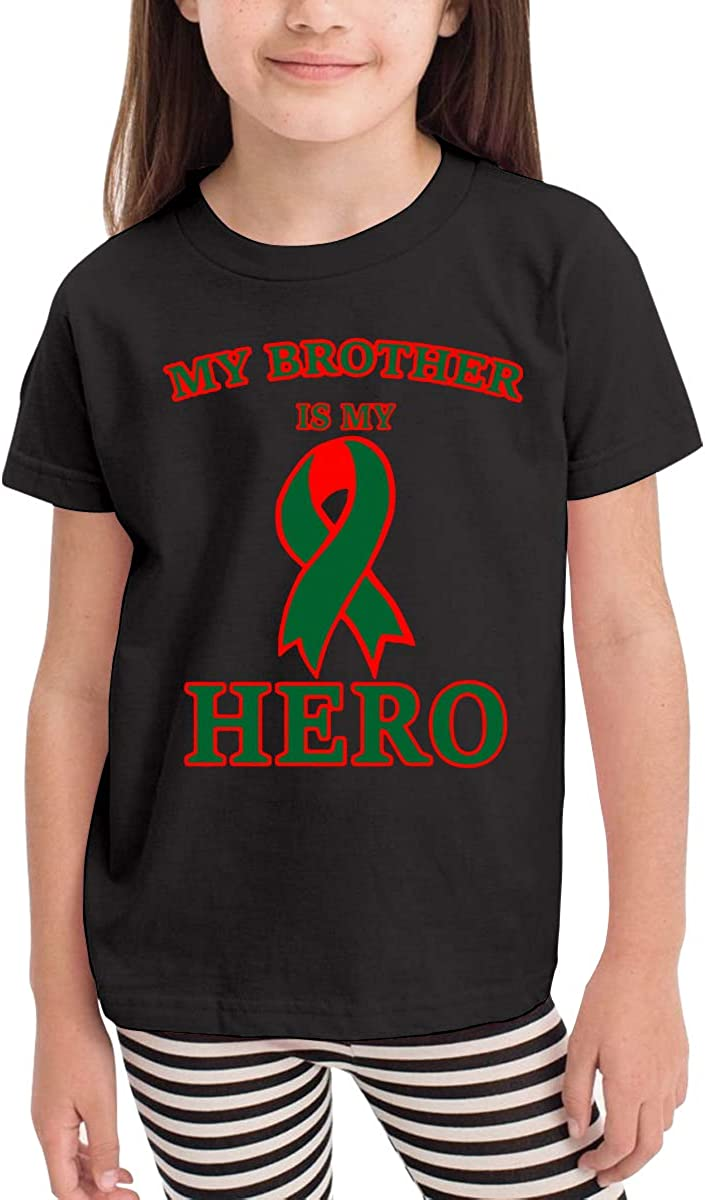 Kcloer24 Boys/&Girls Liver Cancer Awareness Cute T-Shirt Summer Tee for 2-6 Years Old