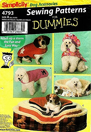 Amazon.com: SIMPLICITY 4793 SEWING PATTERNS FOR DUMMIES ~ DOG COATS ...