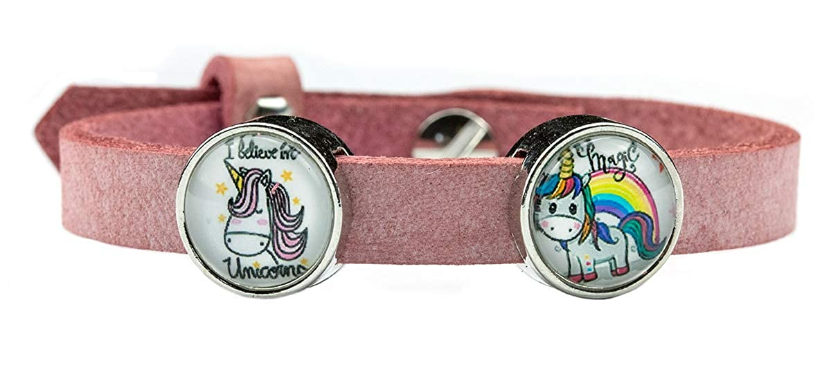 Pulsera Milosa de unicornio para niña, piel, regalo de ...
