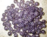 """mySimple Products Unique & Custom {9/16'' Inch } Set of Approx 50 Small """"Round"""" Opaque Marbles Made of Glass for Filling Vases, Games & Decor w/Dark Amethyst Design [Purple]"""