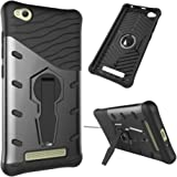 Redmi 4A Case / Redmi 4 A Case : AEETZ Hybrid Sniper Armor Back Case Hard TPU PC Shockproof 360 Degrees Rotation Kickstand Cover for Xiaomi Redmi 4A / Xiaomi Redmi 4 A - Grey