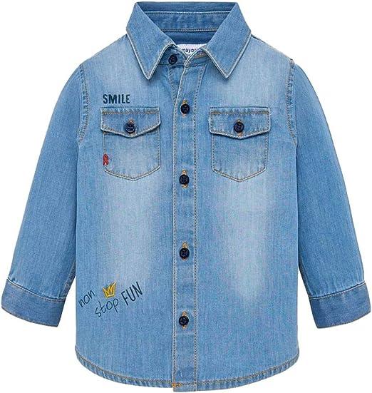 Mayoral - Camisa de tela vaquera para niño Jeans 98 cm/3 ...