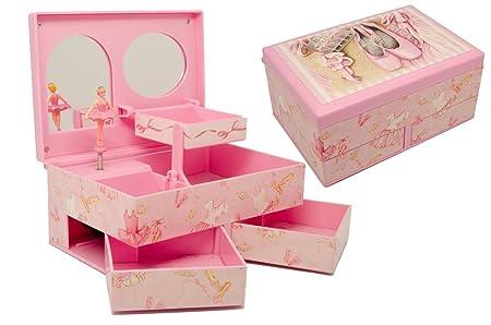 Personalised Musical Ballerina Girls Keepsake And Jewellery Box Engraved Gift