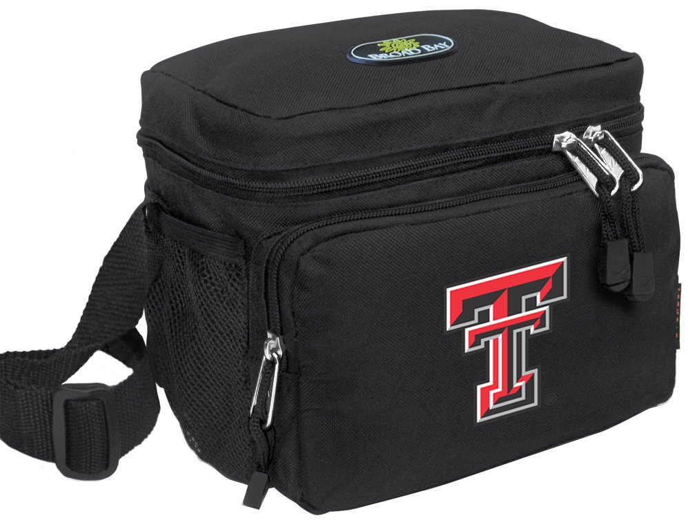 Broad Bay Texas Tech Lunch Bag OFFICIAL NCAA Texas Tech Red Raiders Lunchboxes